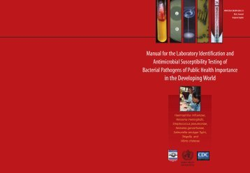 Manual for the Laboratory Identification and Antimicrobial ...