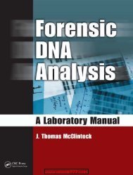 Forensic DNA Analysis A Laboratory Manual