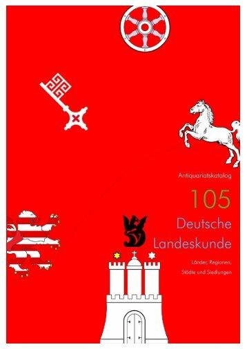 Deutsche Landeskunde - VICO Wissenschaftliches Antiquariat und ...