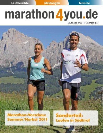 MARATHON · HALBMARATHON 10 KM LAUF - Marathon4you.de