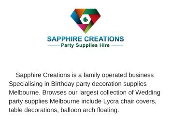 Birthday party supplies Melbourne