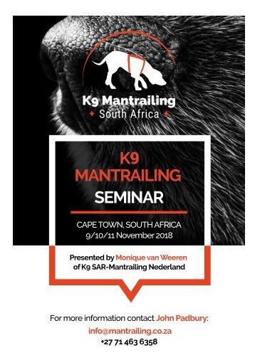 K9 Mantrailing Seminar flyer web