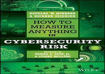 [+]The best book of the month How to Measure Anything in Cybersecurity Risk  [DOWNLOAD]