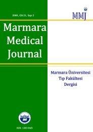 İÇİNDEKİLER - Marmara Medical Journal