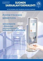 29.vuosikerta numero 6/2011 - Suomen Sairaalahygieniayhdistys