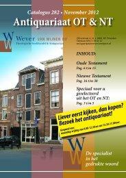 Antiquariaat OT & NT De specialist in het ... - Wever van Wijnen