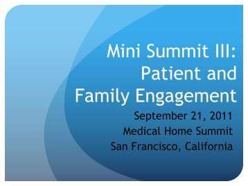 Patient-- and Family - Health Care Conference Administrators