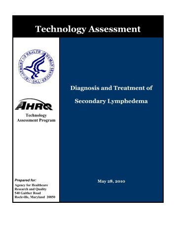 Diagnosis and Treatment of Secondary Lymphedema - Centers for ...