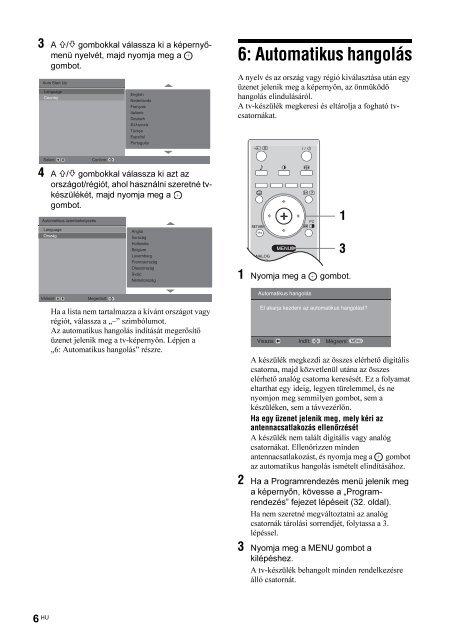Sony KDL-40P2520 - KDL-40P2520 Istruzioni per l'uso Ungherese