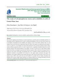 The study of soil phosphorous status and availability in soils of Urmia Plain, Iran