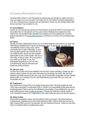 De 5 beste koffie hot spots in Luik