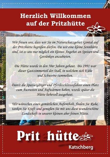 Speisekarte Pritzhütte Sommer Web