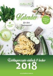 Landhaus-Team: Jahres Küchen Kalender 2018