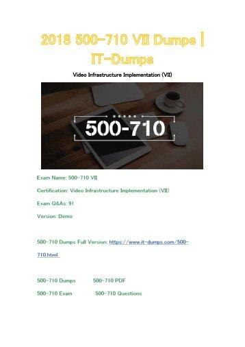 2018 Cisco 500-710 Real Dumps | IT-Dumps