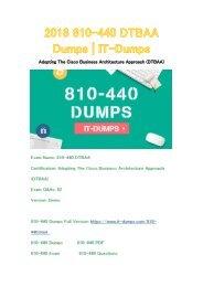 2018 Cisco 810-440 Real Dumps | IT-Dumps