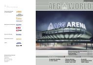AFG ARENA Page 4 Kitchen Center Page 21 Forster unico Page 29