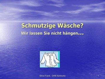 Schmutzige Wäsche - Forum Waschen
