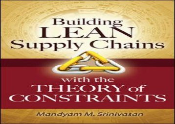 Best [TOP] Building Lean Supply Chains with the Theory of Constraints Best Sellers Rank : #1 PDF books#D#