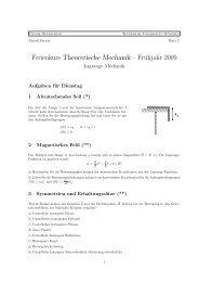 Theoretische Mechanik - Physik-Department TU München