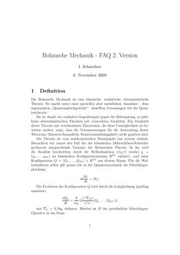 BOHMSCHE MECHANIK PDF DOWNLOAD