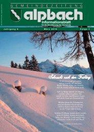 Informationsblatt - Alpbach
