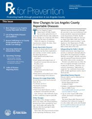 New Changes to Los Angeles County Reportable Diseases