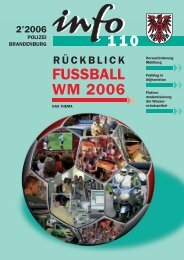 FUSSBALL WM 2006 - Polizei Brandenburg - Brandenburg.de