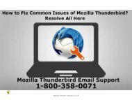 7 july mozilla thunderbird email support