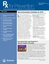 New Immunization Schedules for 2010 - Department of Public ...