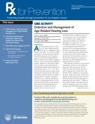 Detection and Management of Age-Related Hearing Loss