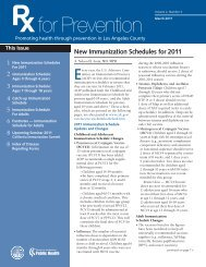 New Immunization Schedules for 2011 - Department of Public ...
