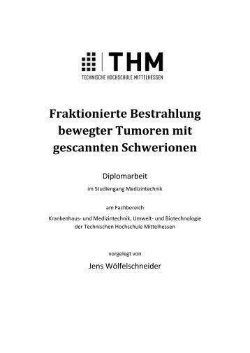 Fraktionierte Bestrahlung bewegter Tumoren mit gescannten ...