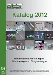 Katalog 2012 Blutentnahmevorrichtung für ... - BEST Medizin