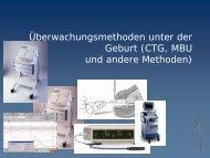Überwachungsmethoden unter der Geburt (CTG, MBU und andere ...