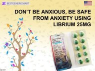 DON'T BE ANXIOUS, BE SAFE FROM ANXIETY USING LIBRIUM 25MG