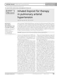 Inhaled iloprost for therapy in pulmonary arterial hypertension