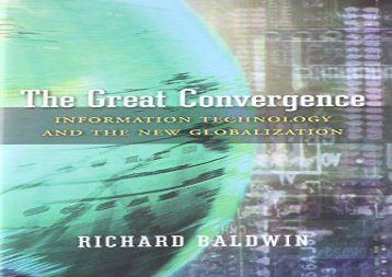 [+][PDF] TOP TREND The Great Convergence: Information Technology and the New Globalization  [NEWS]