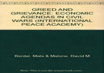 [+][PDF] TOP TREND Greed and Grievance: Economic Agendas in Civil Wars  [NEWS]