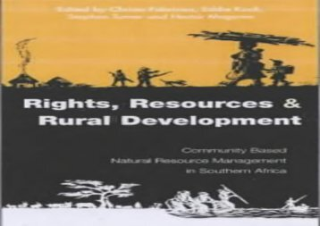 [+]The best book of the month Rights Resources and Rural Development: Community-based Natural Resource Management in Southern Africa [PDF]