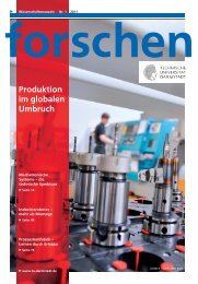 forschen 1/2011 - (PTW) an der - Technische Universität Darmstadt