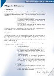 Behandlung von pH-Elektroden - SI Analytics