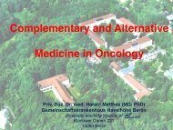 Complementary and Alternative Medicine in Oncology (Ass Prof - IVAA