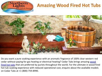 Amazing Wood Fired Hot Tubs