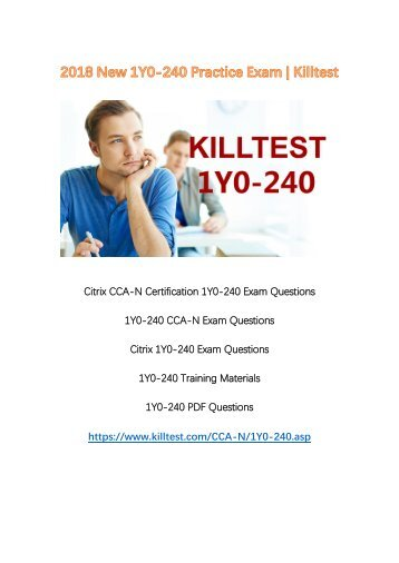 2018 New 1Y0-240 Exam Questions Killtest