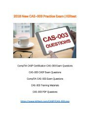 2018 New CAS-003 Exam Questions Killtest