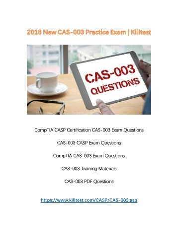 2018 New CAS-003 Exam Questions Killtest