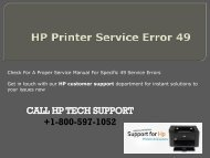 HP Printer Service Error 49 +1-800-597--1057