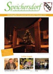 Mitteilungsblatt der Gemeinde Speichersdorf / Dezember 2012