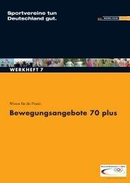 Bewegungsangebote 70 plus - Der Deutsche Olympische Sportbund