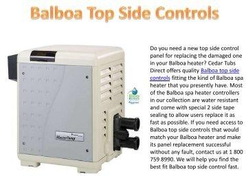 Balboa Top Side Controls